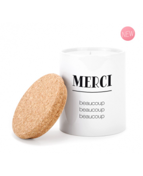 """BOUGIE CERAMIQUE """"MERCI1"""""""