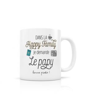 """MUG """"HAPPY FAMILY PAPY"""""""