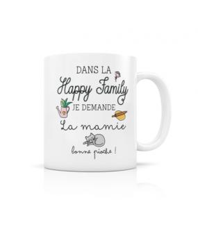 "MUG ""HAPPY FAMILY MAMIE"""