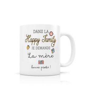 "MUG ""HAPPY FAMILY MERE"""