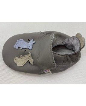 Chaussons souples lapin